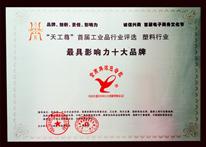 鲁燕-天工尊首届工业品行业评选最具影响力十大品牌